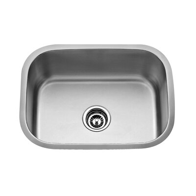 "Kraus 23.5"" x 17.75"" x 9"" Undermount Single Bowl Kitchen Sink with Faucet and Soap Dispenser"