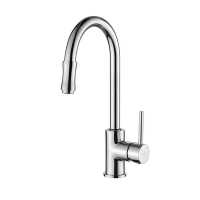 Single Handle Single Hole Kitchen Faucet with Lever Handle with Pull Down Hose