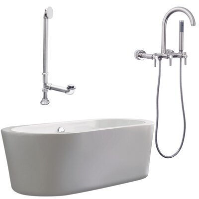 Giagni Ventura 67&quot; Tub with Wall Mount Faucet and Lever Handles