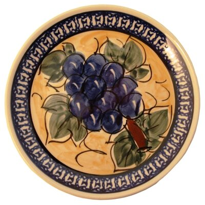 Euroquest Imports Polish Pottery Pattern DU8 6&quot; Appetizer / Dessert Plate