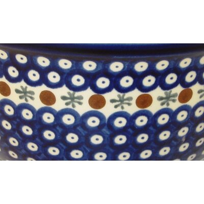 "Euroquest Imports Polish Pottery 10.5""  Kitchen Bowl -"