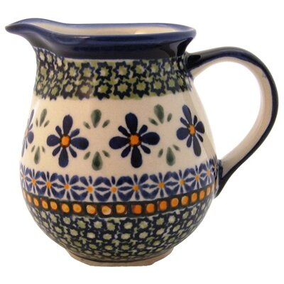 Euroquest Imports Polish Pottery 14 oz Pitcher - Pattern DU60