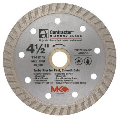 "MK Diamond 4-1/2"" Contractor™ Diamond Blade  167021"