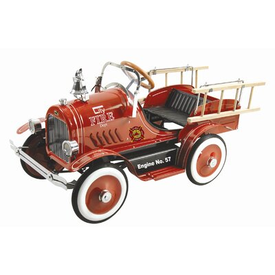 Dexton Kids Deluxe Fire Truck Pedal Car