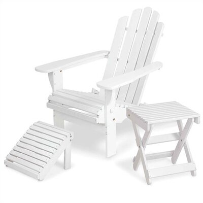 Manchester Wood Solid Maple  Adirondack Chair with Matching Footrest & Side Table