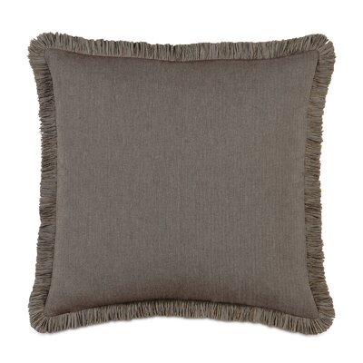 Daphne Polyester Flint Decorative Pillow with Brush Fringe