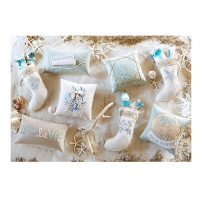 Eastern Accents Coastal Tidings Shelly Spa Stocking