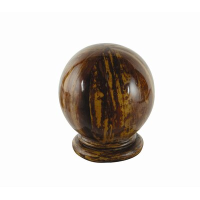 Eastern Accents Banana Bark Globe Curtain Finial (Set of 2)