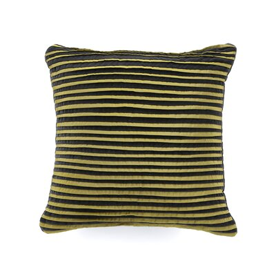 Caldwell Polyester Jackson Square Decorative Pillow with Pleats