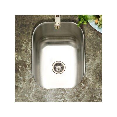 Undermount Small Bar/Prep Sink in Satin Features: Bar / prep sink