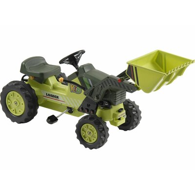 Big Toys Kalee Pedal Tractor with Loader in Green