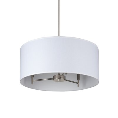 Walker 3 Light Chandelier with Drum Shade