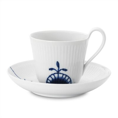 Royal Copenhagen Blue Fluted Mega 8.25 oz. Cup and Saucer
