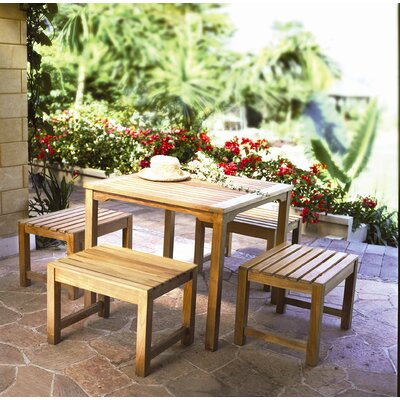 Three Birds Casual Charleston Teak Picnic Bench
