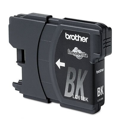 Brother Lc61Bk (Lc-61Bk) Ink, 500 Page-Yield