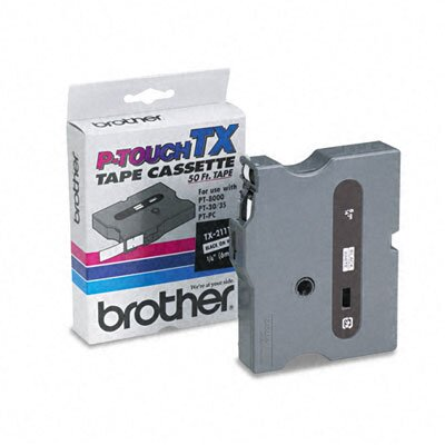 Brother P-Touch Tx Tape Cartridge for Pt-8000, Pt-Pc, Pt-30/35, 1/4W