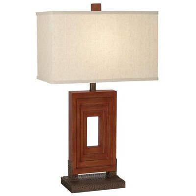 Pacific Coast Lighting Steps Table Lamp in Grand West Red