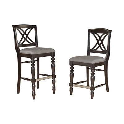 Broyhill® Mirren Pointe Upholstered Seat X-Back Bar Stool