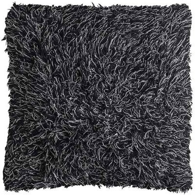 Chandra Rugs Black Shag Floor Pillows