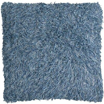 Chandra Rugs Blue Shag Floor Pillows