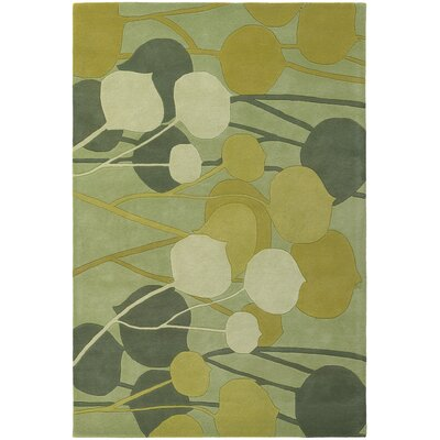 Chandra Rugs Inhabit Designer Lime Rug