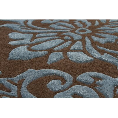 Chandra Rugs Navyan Brown/Blue Rug