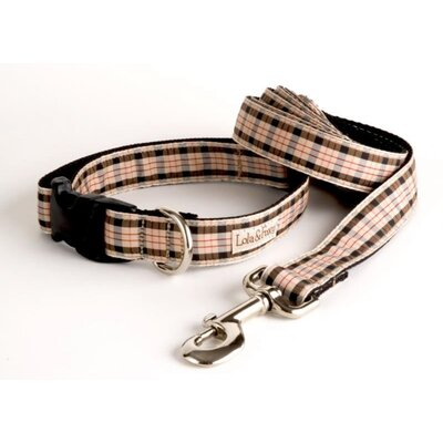 Lola and Foxy English Plaid Dog Lead