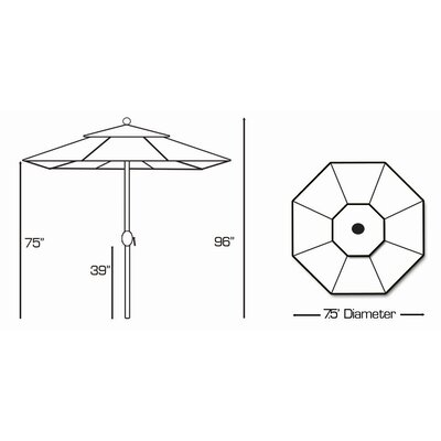 Galtech International 7.5' Market Umbrella