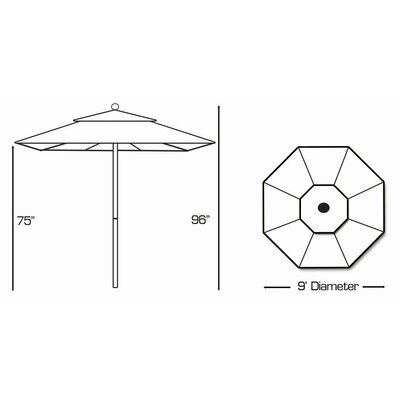 Galtech International 9' Market Umbrella
