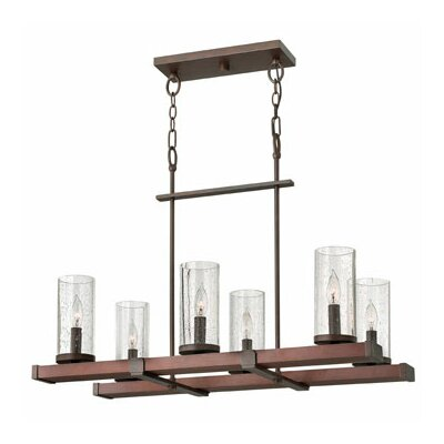 Fredrick Ramond Jasper 6 Light Rectangular Chandelier