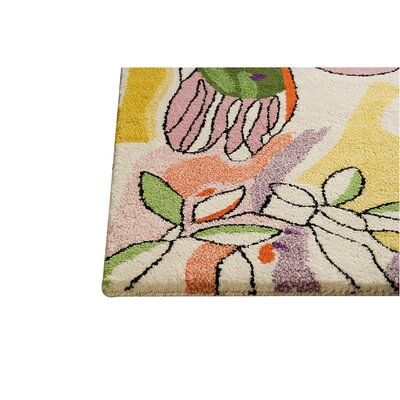 Hokku Designs Watercolor White/Multi Rug