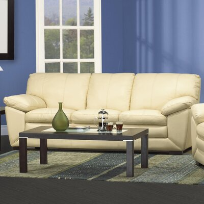 Hokku Designs CA Napoli Leather Sofa