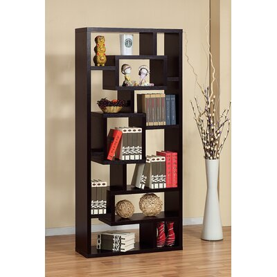 Hokku Designs Bradshaw Unique Bookcase / Display Cabinet in Red Cocoa