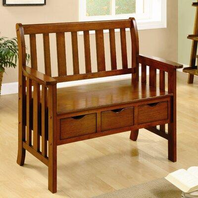 Hokku Designs Crest Solid Wood Entryway Storage Bench | Wayfair