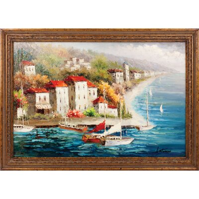 Hokku Designs A New Journey Hand Painted Oil Canvas Art with Frame