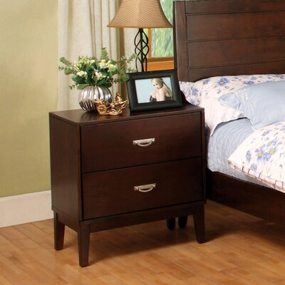 Hokku Designs Berkley 2 Drawer Nightstand