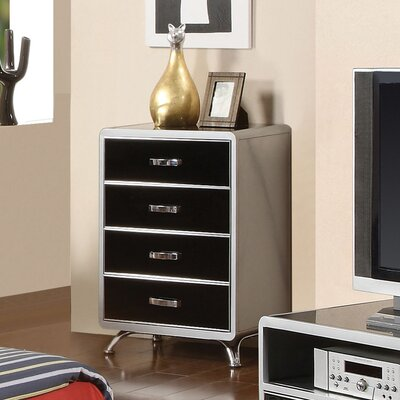 Hokku Designs Modesto 4 Drawer Metal Chest