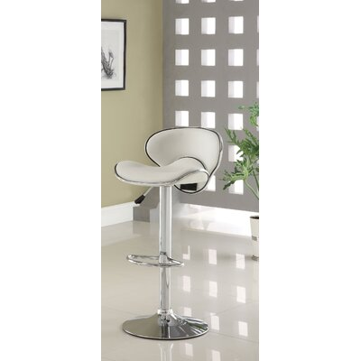 Hokku Designs Vince Leatherette Adjustable Bar Stool