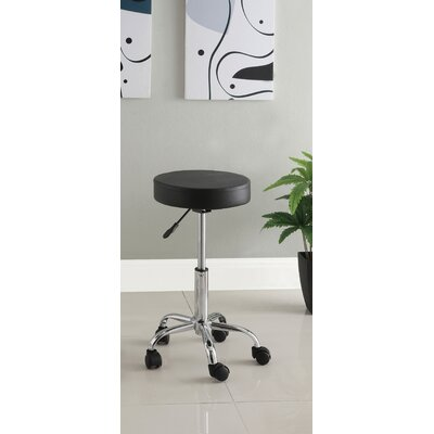 Ava Leatherette Round Adjustable Bar Stool