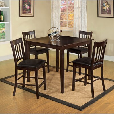 Hokku Designs Clarks 5 Piece Counter Height Dining Set