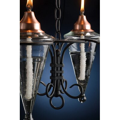 H. Potter 4 Torch Chandelier