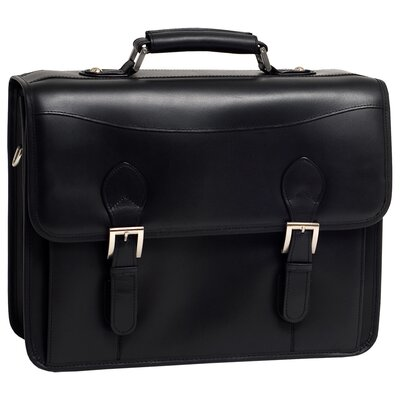 Belvedere Leather Double Compartment Laptop Case