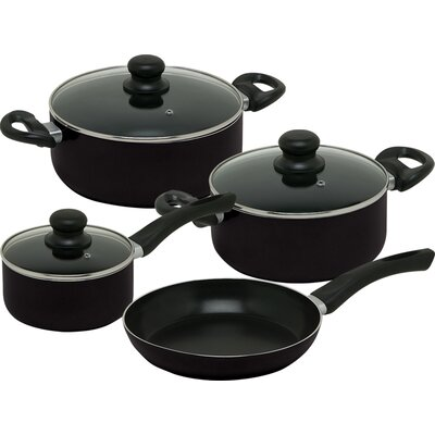 Vitalia Hard Anodized Aluminum 7-Piece Cookware Set