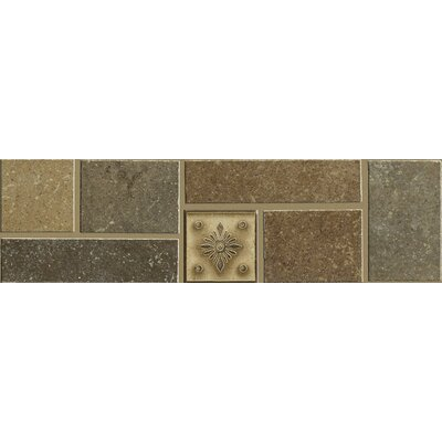 Shaw Floors Brushstone Accent Border Tile Accent in Multi-color