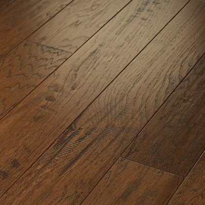"Shaw Floors Pebble Hill Hickory 5"" Engineered Hickory in Burnt Barnboard"
