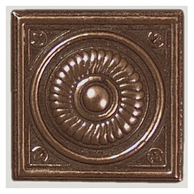 "Shaw Floors Metal Scudo Insert 2"" Tile Accent in Copper"