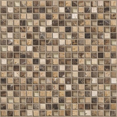 "Shaw Floors Mixed Up 12"" x 12"" Mosaic Stone Accent Tile in River Bed"
