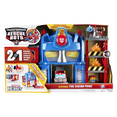 Hasbro Transformer Rescue Bots Playskool Heroes Fire Station Prime Play Set