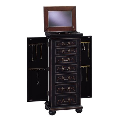 Lucca Black Jewelry Armoire