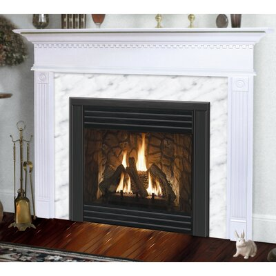 Hearth and Home Mantels Deluxe Sienna Flush Fireplace Mantel with Large Opening